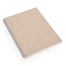 Notebook Wire-O, Sand Brown