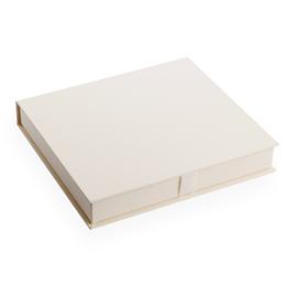 Vävklädd Box För Fotoalbum, Benvit Storlek 29 x 31 (passar fotoalbum 23 x 28 cm)