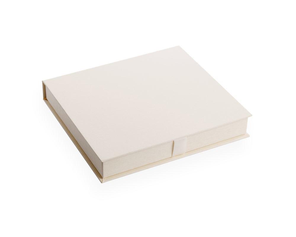 Vävklädd Box För Fotoalbum, Benvit Storlek 290 x 310 (passar fotoalbum 230 x 280 mm)