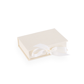 Boîte avec rubans en satin, Ivory