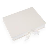 Boîte avec ruban de satin, ivoire