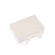 Vävklädd Box med sidenband, Elfenben Storlek A5