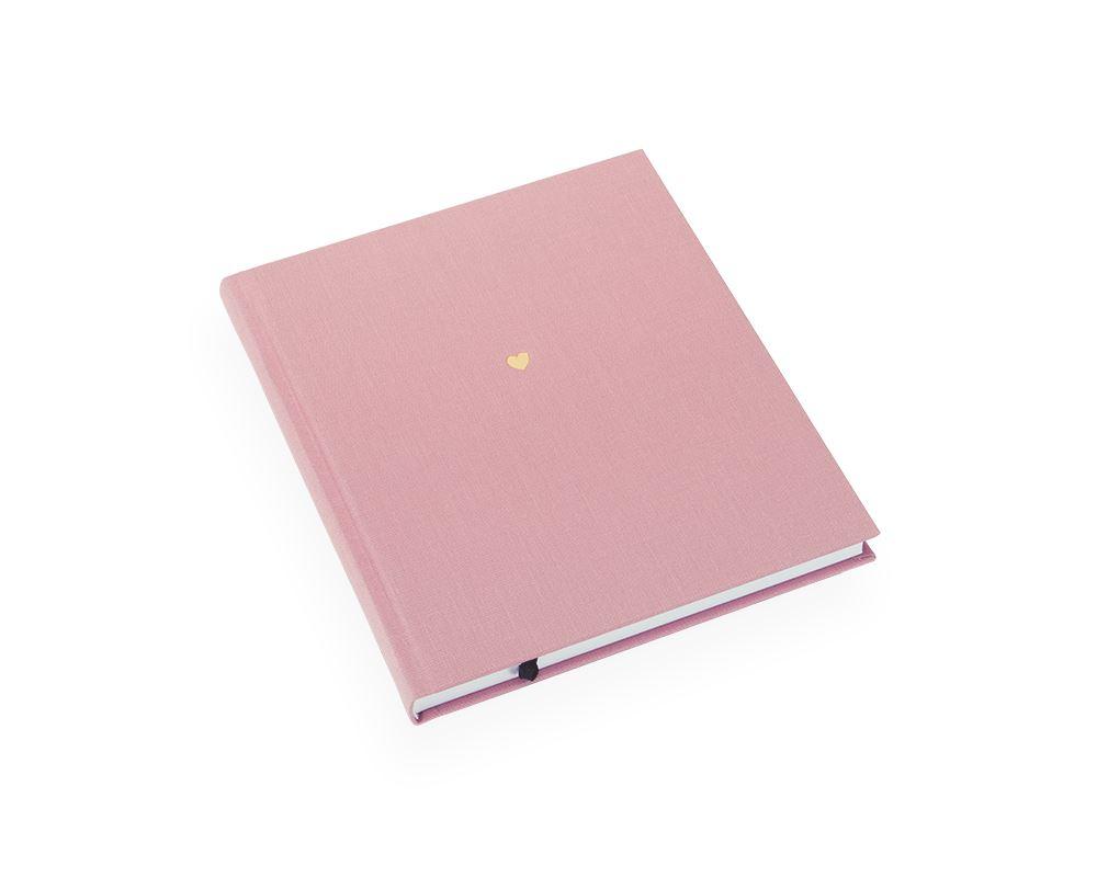 Inbunden anteckningsbok, Puderrosa