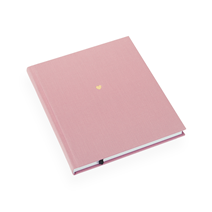 Carnet en toile, Dusty Pink