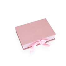 Box cloth/paper A5 Ottawa Dusty pink with ribbon