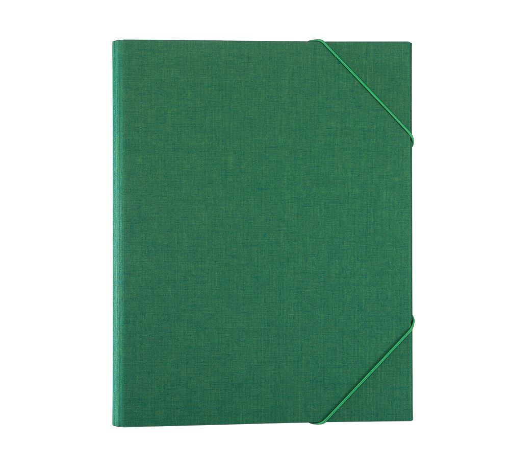 Folder A4 cloth Duo green
