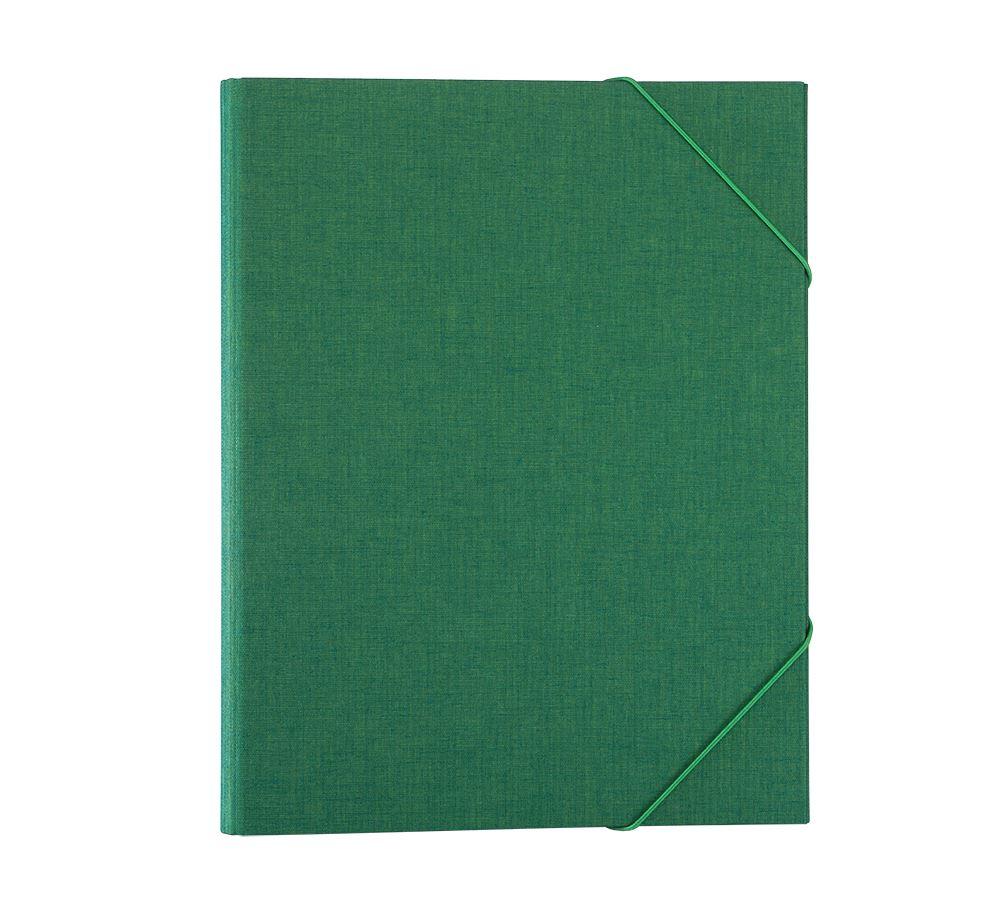 Vävmapp med snodd, Klövergrön
