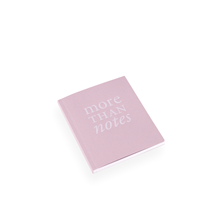 "NOTEBOOK SOFT COVER, PINK, ""More than notes"""