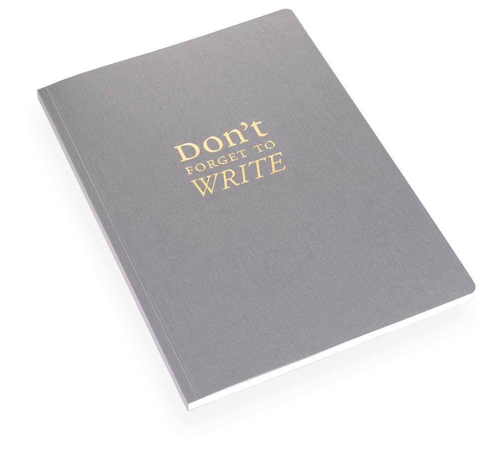 NOTEBOOK SOFT COVER, DARK GREY