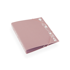 Children binder, dusty pink