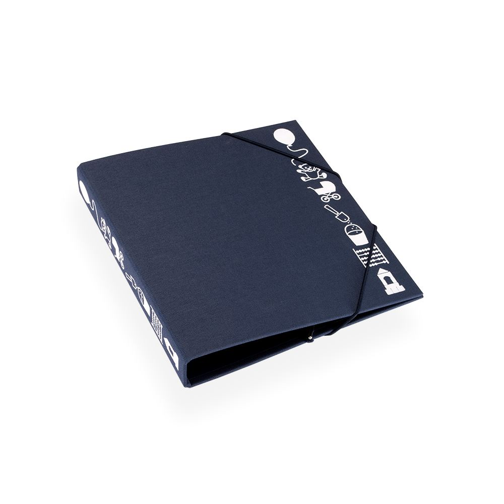 Children binder, Smoke Blue