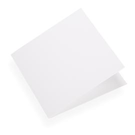 Folded card 145*145 Cotton white 10 pcs