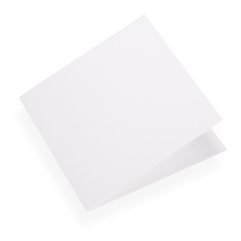 Folded card 145x145 Cotton white 10 pcs