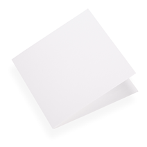 Folded card 145x145 Cotton white 10 pcs