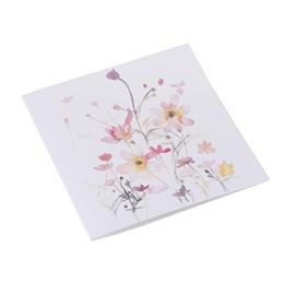 Faltkarte aus Baumwollpapier, Flowerbed Pink