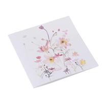 Celebration Card 10pcs,  Flowerbed Pink