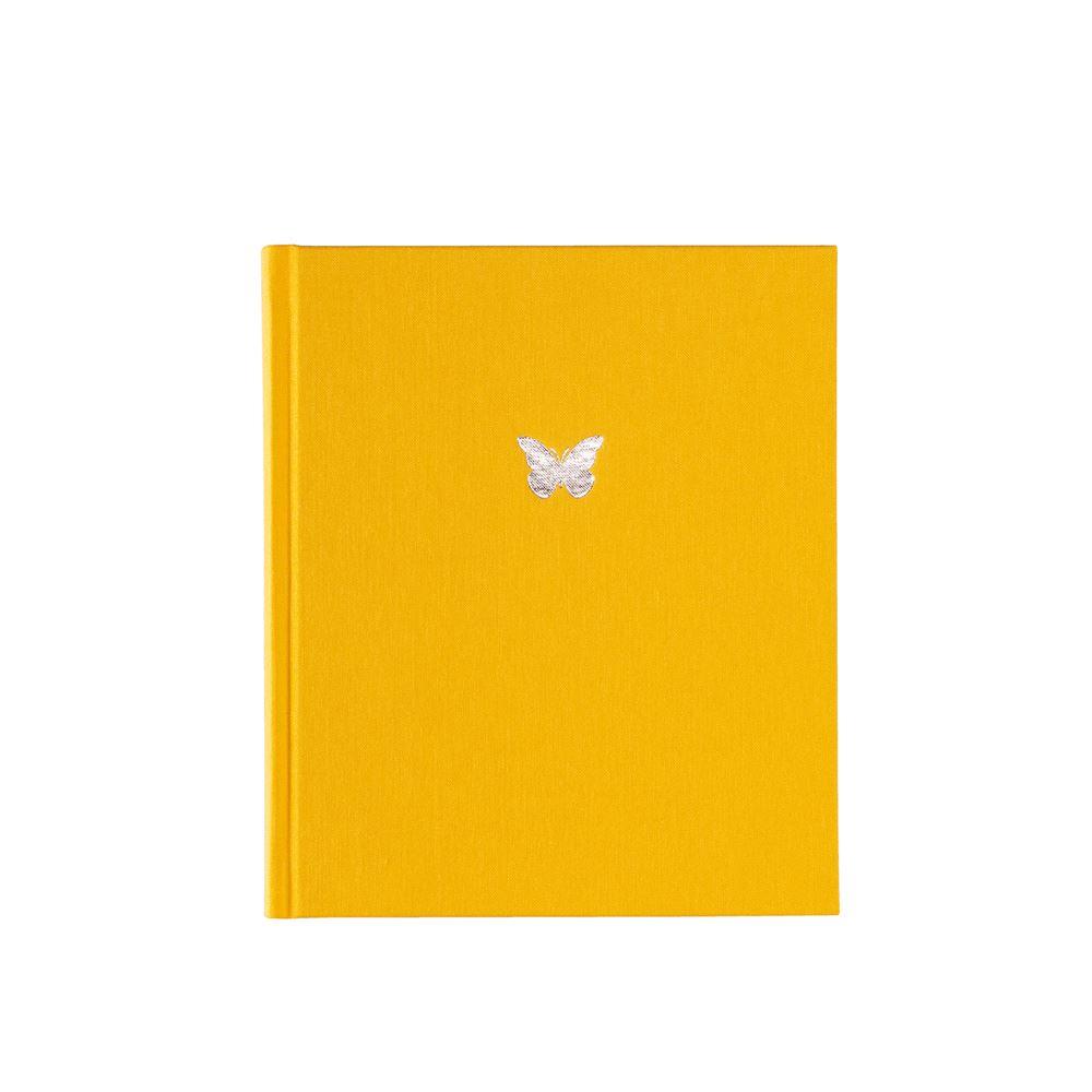 Inbunden anteckningsbok, Solgul
