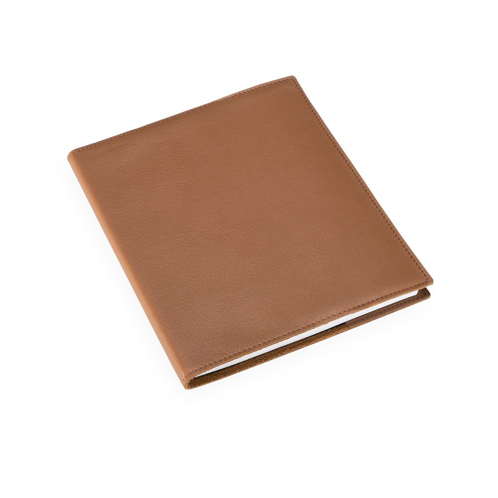 Notebook leather cover, cognac