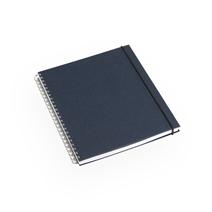 Notizbuch mit Ringbindung, Smoke blue