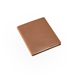 N. book A6+ leather cover Cognac with refill unlined