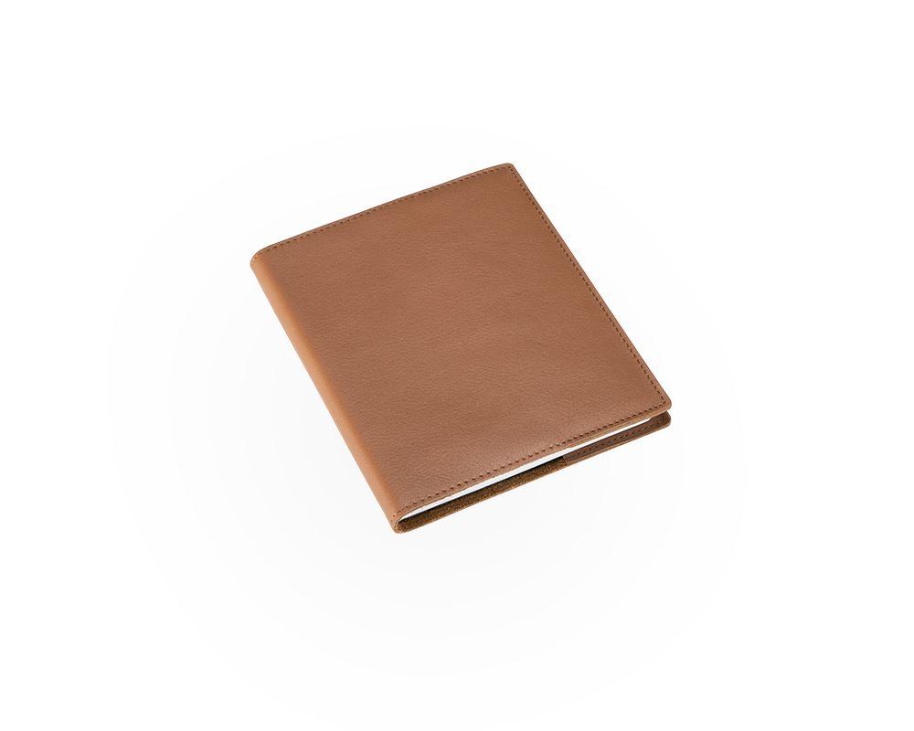 Notizbuch mit Ledereinband, Cognac