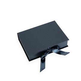 Boîte avec rubans de satin, smoke blue
