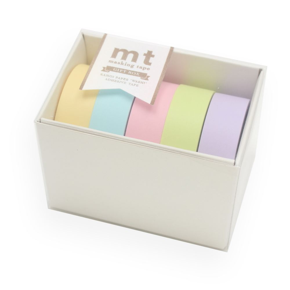 WASHI - GIFTBOX PASTEL2 5 rolls