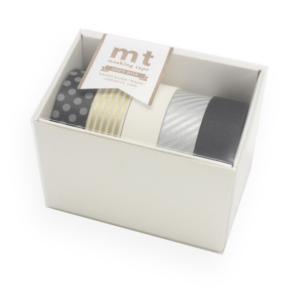 WASHI - GIFTBOX MONTONE 5 rolls