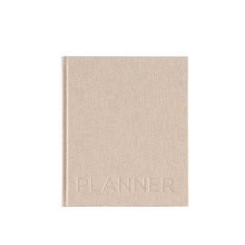 Hardcover Weekly Undated Planner, Sand Brown