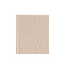 Hardcover Weekly Undated Planner, Sand Brown