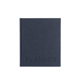 Hard cover weekly undated planner, Smoke Blue
