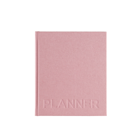 Hard cover weekly undated planner, Dusty Pink