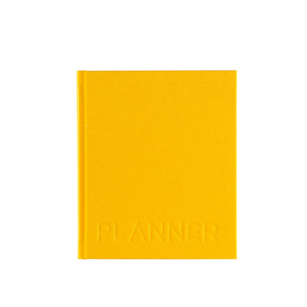 Hardcover Weekly Undated Planner, Sun Yellow