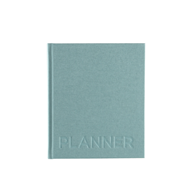 Hardcover Weekly Undated Planner, Dusty Green