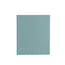 Hard cover weekly undated planner, Dusty Green