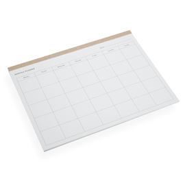 Monthly Planner, Sand Brown