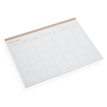 Monthly planner, Sandbrown