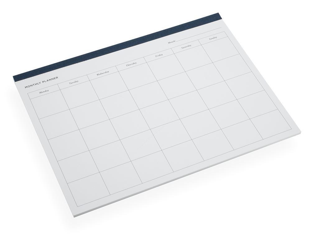 Monthly planner, Smoke Blue