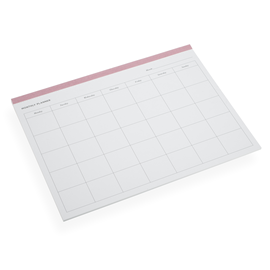 Monthly planner, Dusty Pink
