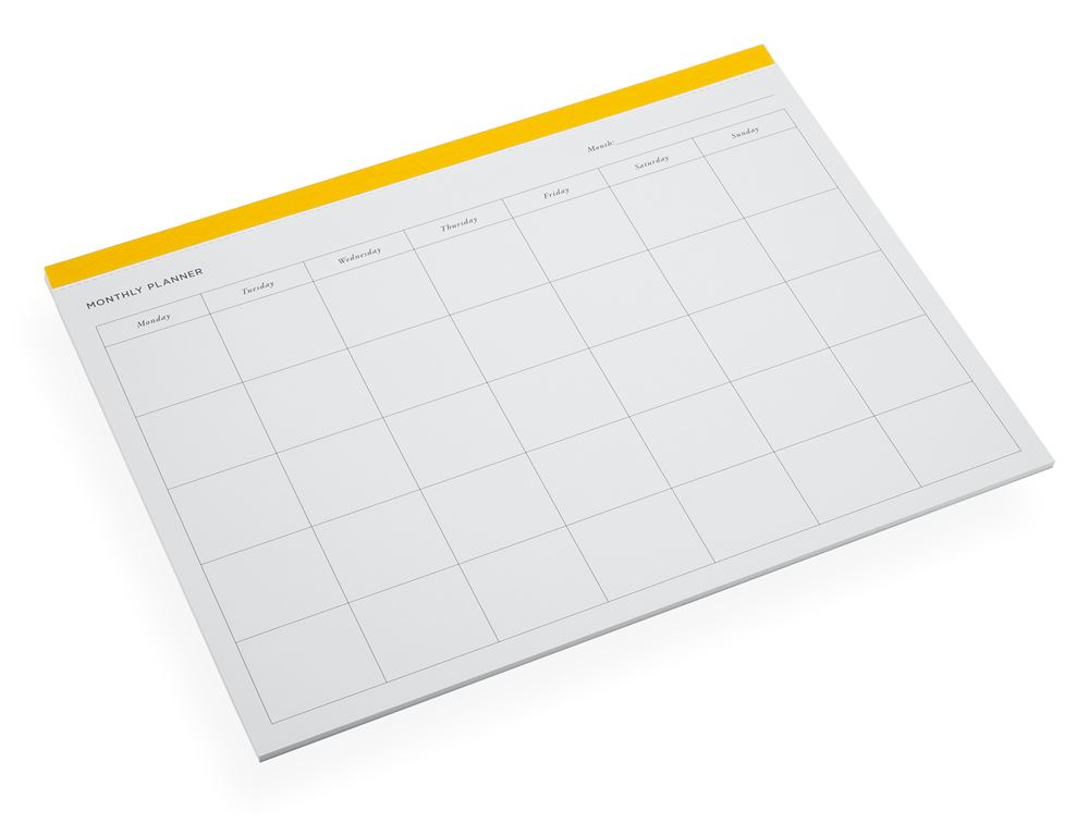 Monthly Planner, Sun Yellow