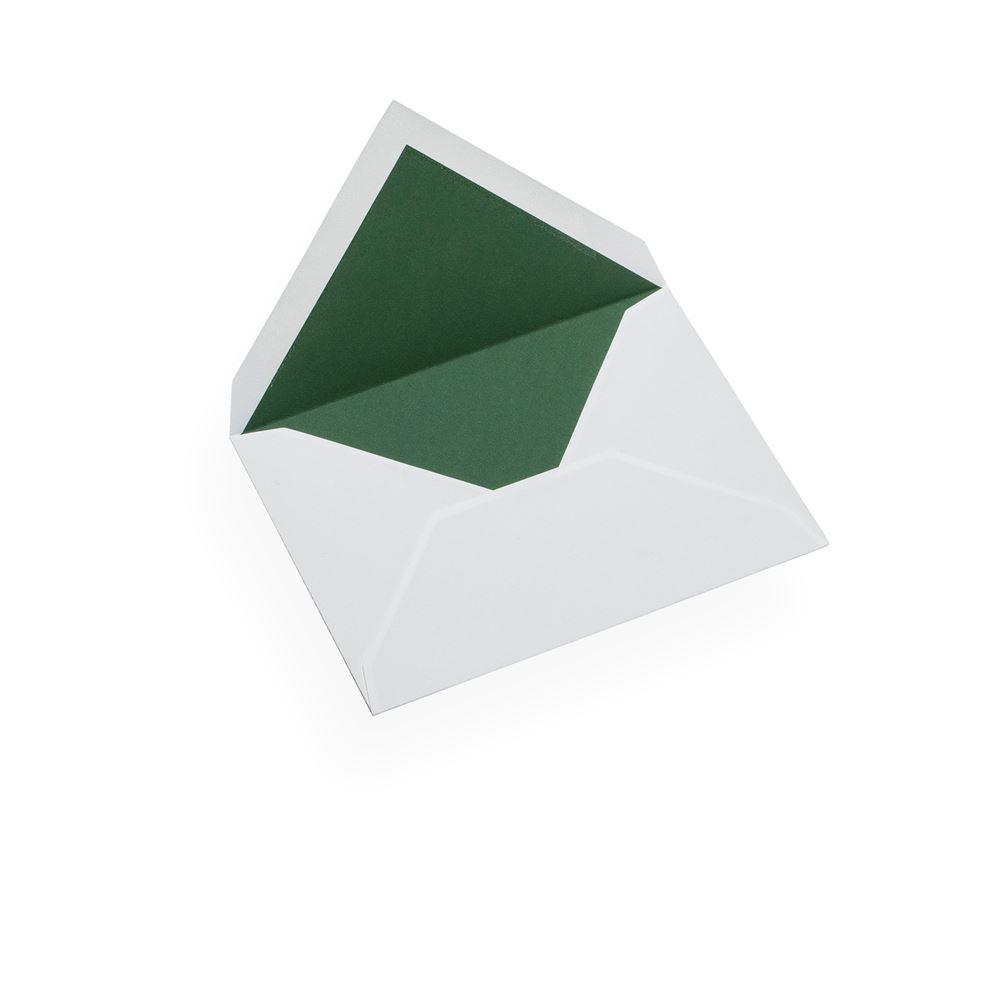 Couvert, Baumwollpapier, Rand in Green
