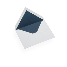 Enveloppe, papier coton, Bleu Marine