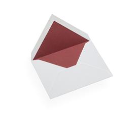 Enveloppe, papier coton, Rouge