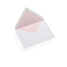 Couvert, Baumwollpapier, Rand in Dusty Pink