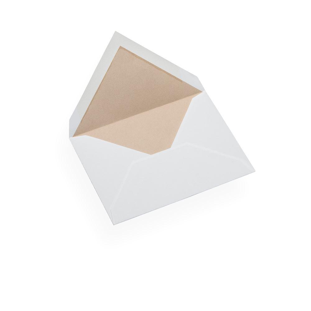 Couvert, Baumwollpapier, Rand in Sand Brown