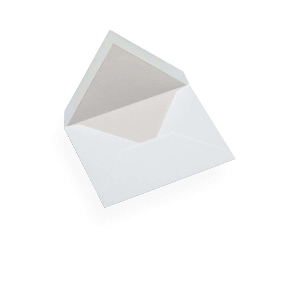Kuvert i bomullspapper, Ljusgrått foder