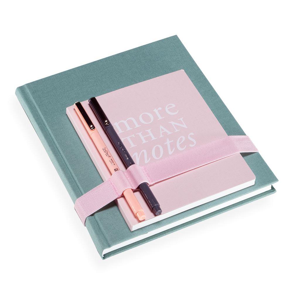 Schreibset, dusty green und dusty pink