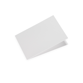 Folded card A6 landscape Offwhite 10 pcs