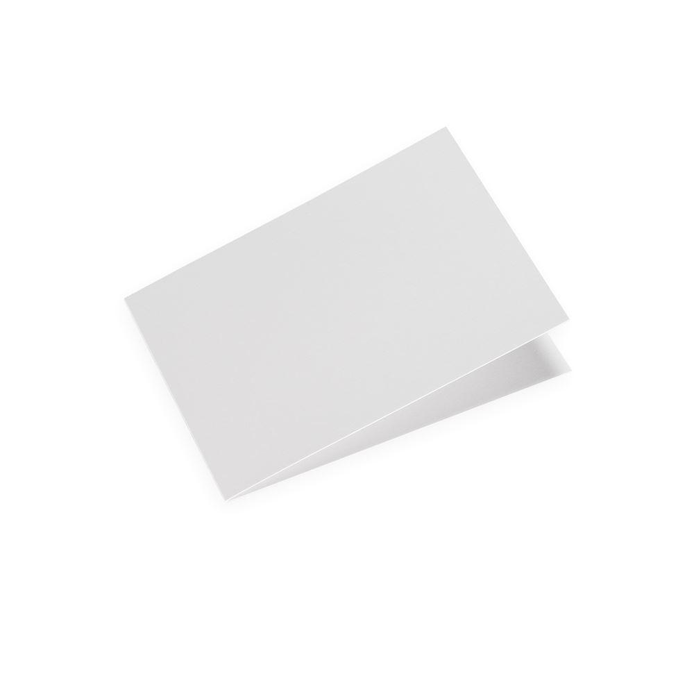 Faltkarte , Querformat, Off-White
