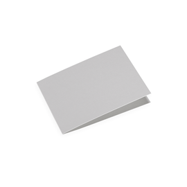 Folded card A6 landscape Light grey 10 pcs